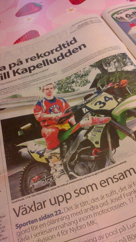 Förstasidan i Ölandsbladet 28 Juni